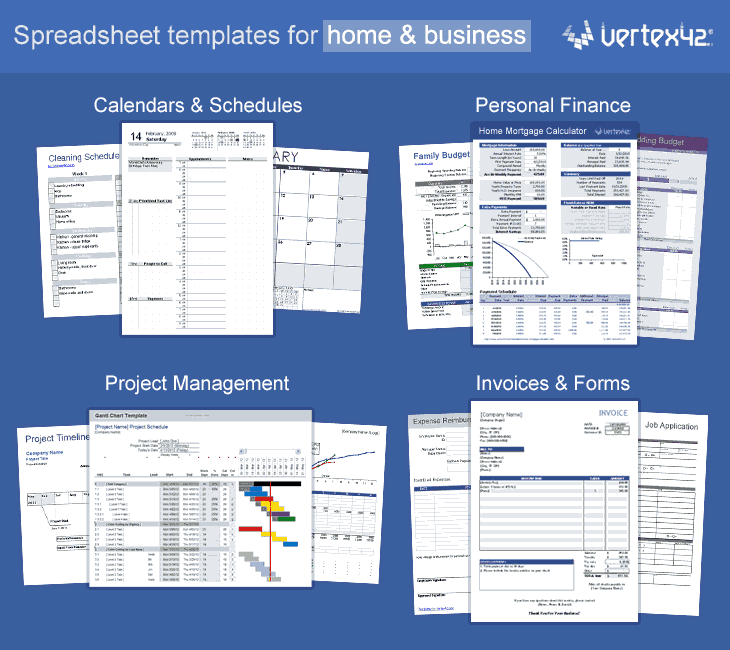 Excel templates calendars calculators and spreadsheets friedricerecipe Images