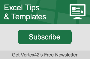 Excel Tips and Templates Newsletter - Subscribe