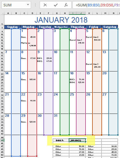 picture regarding Budget Calendar Printable known as Month to month Price range Calendar Template