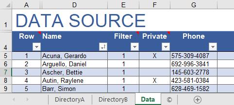 Phone List Template | Sortable 2-Column Phone Directory