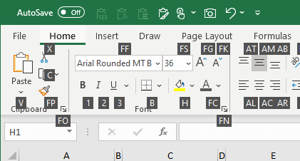 Alt Key Shortcuts - Access Keys in Excel