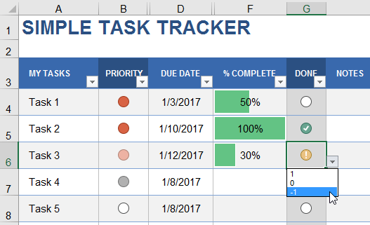 Excel Project Tracker Template
