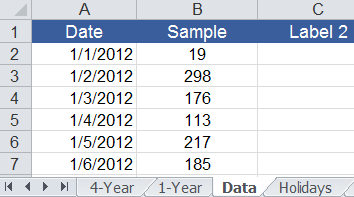 Data Worksheet