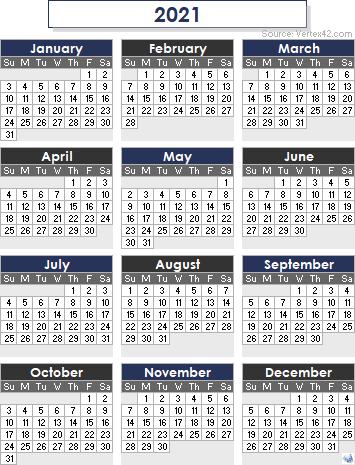 Vertex42 Calendar 2021   Printable March