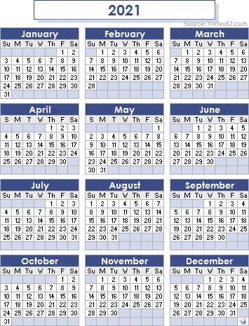 Rinier Scholars Calendar 2021 | Calendar 2021