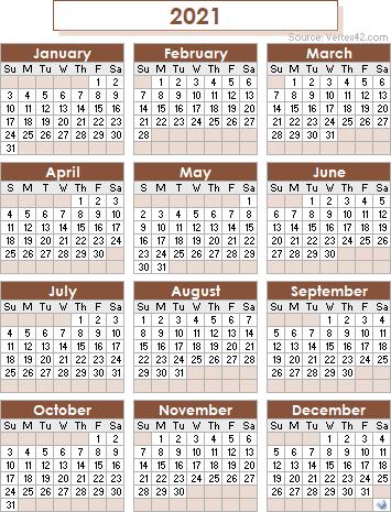 Brown Academic Calendar 2021 2022