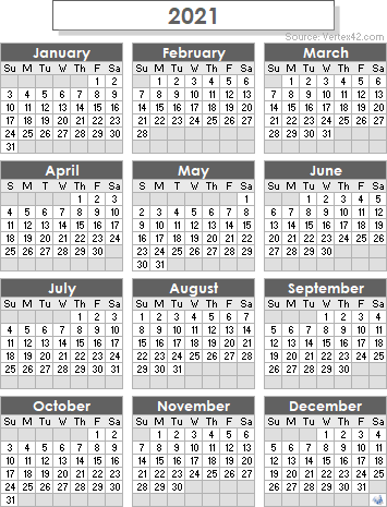 graphic relating to 2021 Calendar Printable identify 2021 Calendar Templates and Pics