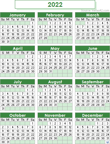 2022 Weekly Calendar Excel.2022 Calendar Templates And Images