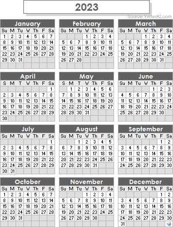 Cms 2022 2023 Calendar.2023 Calendar Templates And Images