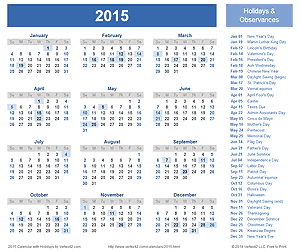2015 calendar templates and images