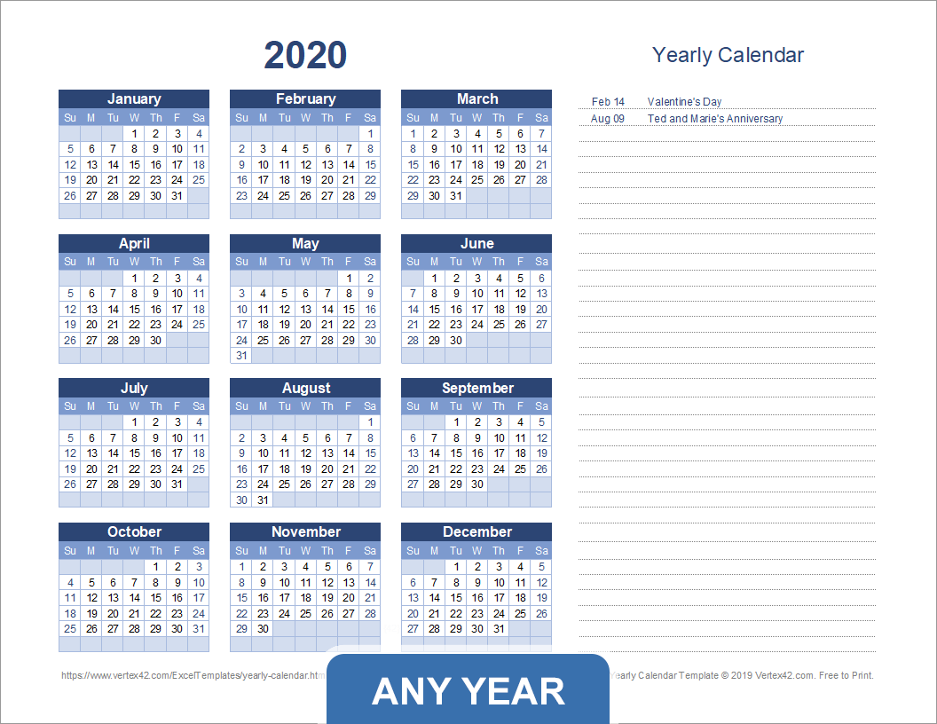 Sitetimeanddatecom Calendar 2022.Yearly Calendar Template For 2021 And Beyond
